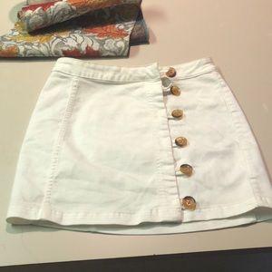 Like new free people skirt sz 10 white
